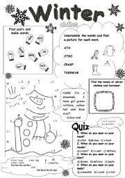 Worksheets Winter Worksheets fun winter worksheets for kindergarten intrepidpath the best and most