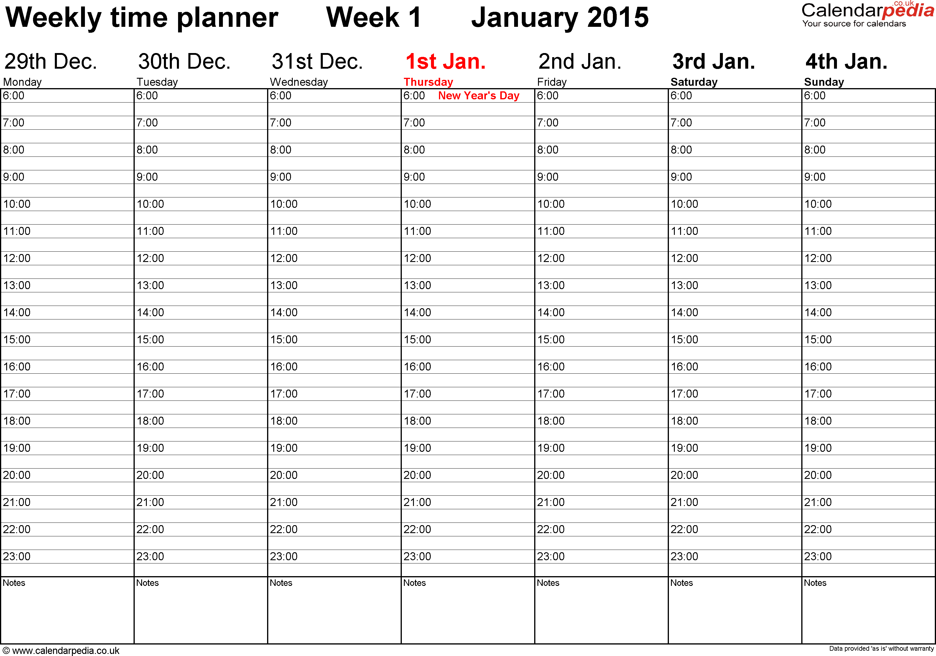 See 2015 Free Printable Weekly Planner Templates, Printable Weekly ...