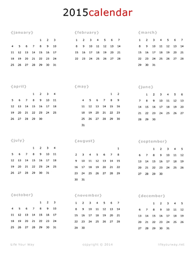 8 Images of July 2015 Calendar Printable One Page