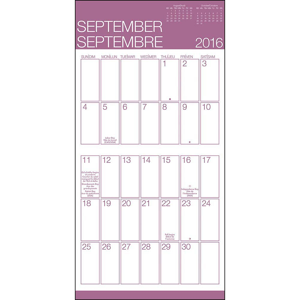 2016 Calendar Printable Large Print