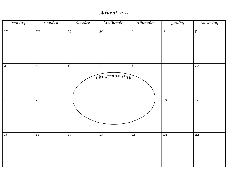 8 Images of Advent Calendar Printable Templates