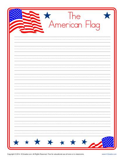 7 Images of Flag Writing Paper Printable