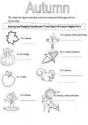 math worksheet : 6 best images of printable autumn worksheets  free printable fall  : Fall Kindergarten Worksheets
