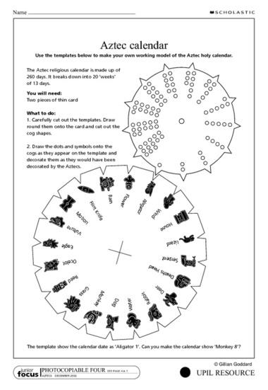 Aztec Calendar Art Lesson : Best images of aztec calendar printable free