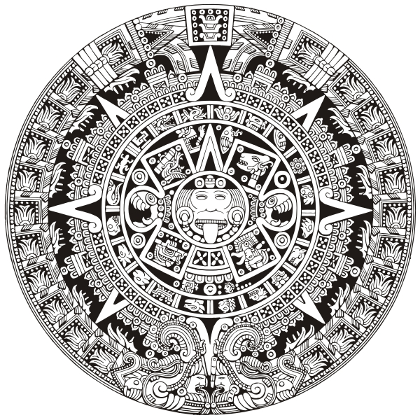 9 Images of Aztec Calendar Printable Free