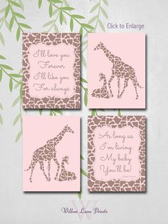 5 Images of Free Printable Giraffe Nursery Wall Art