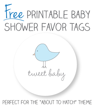 Baby Shower Favor Tag Printables Free