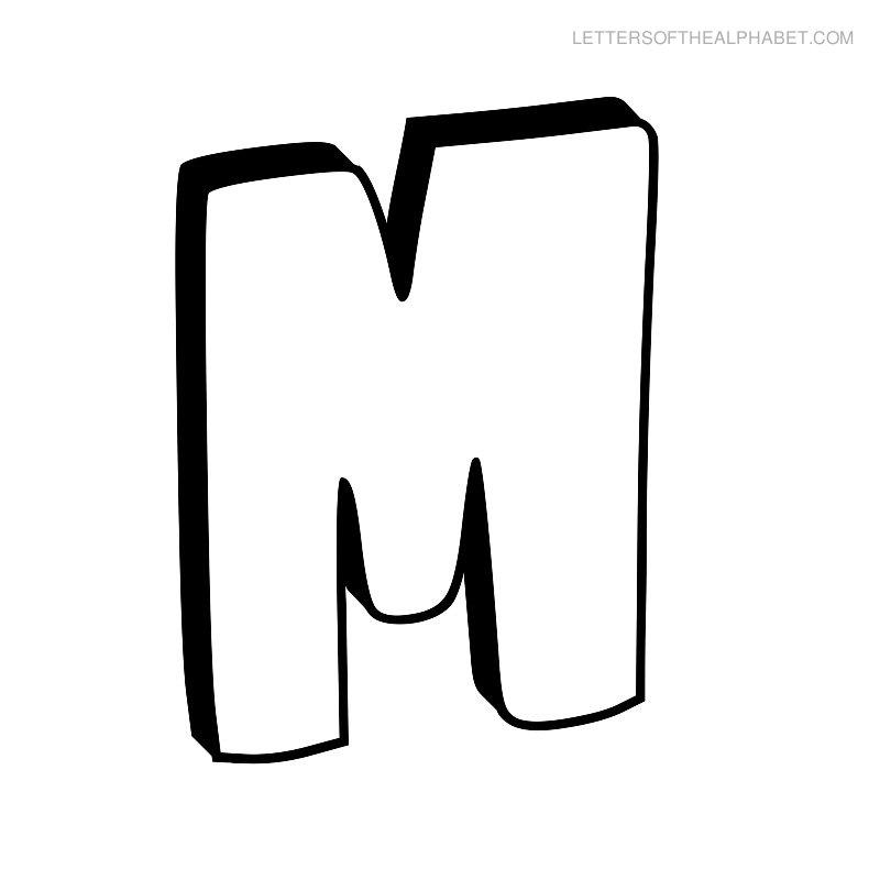 7 Best Images Of Free Printable Bubble Letter M Letters M
