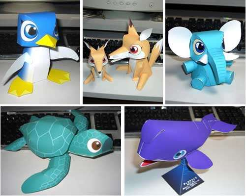 6 Images of Free Printable Cute Paper Toys