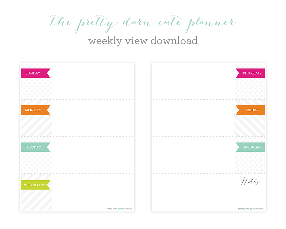 5 Best Images of Cute Printable Weekly Calendar ...