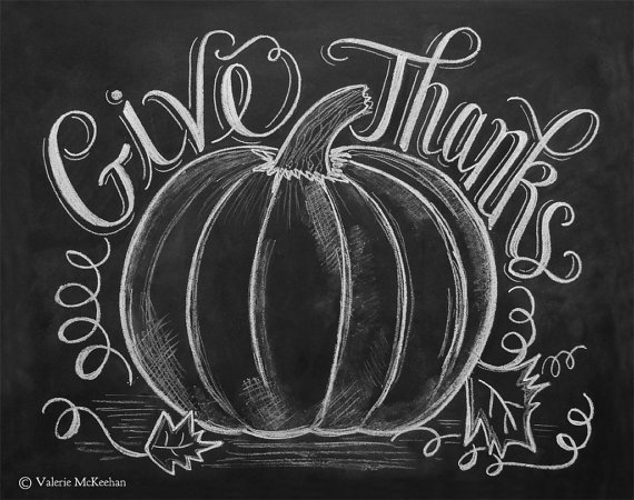 5 Images of Fall Chalkboard Art Printable