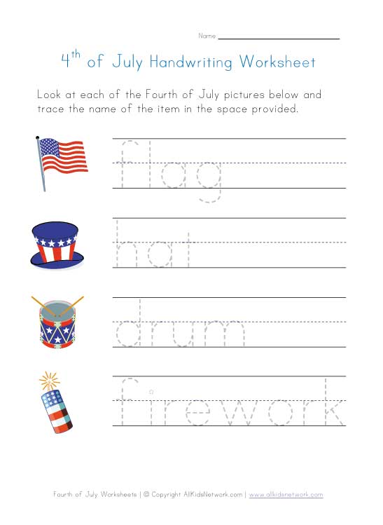 8 Images of July 4th Printable Worksheets Free