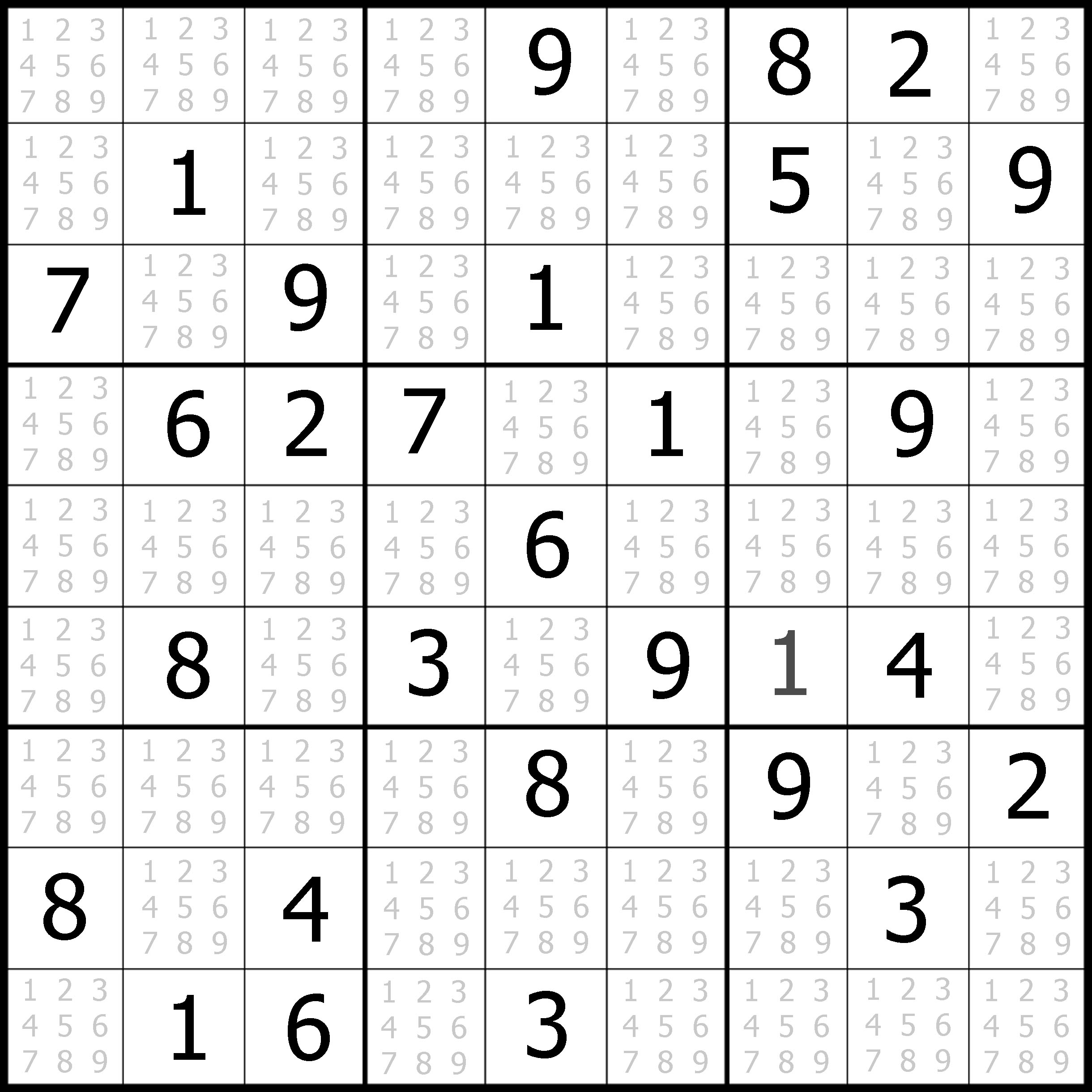 Free Easy Sudoku Puzzles