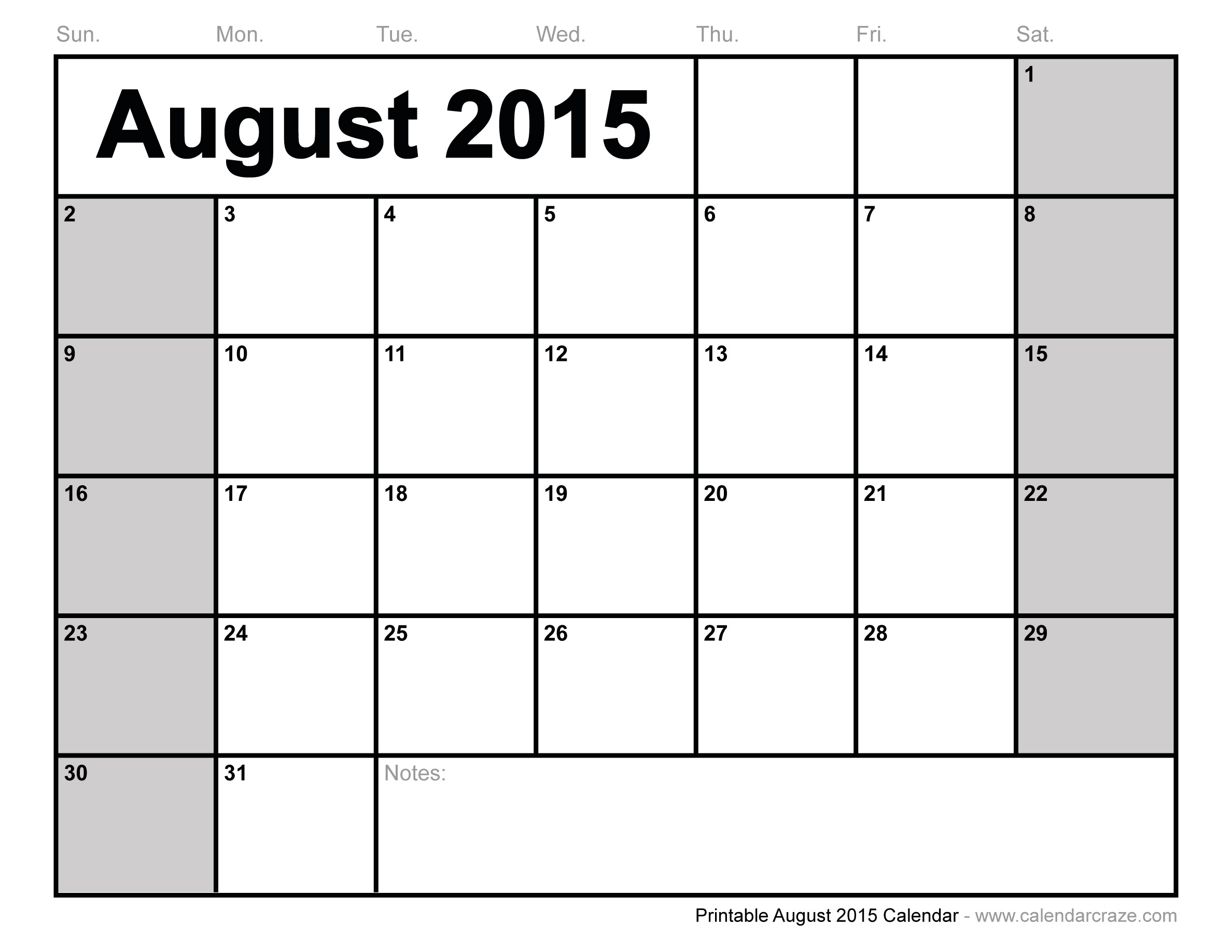 6 Images of Free Printable August Calendar
