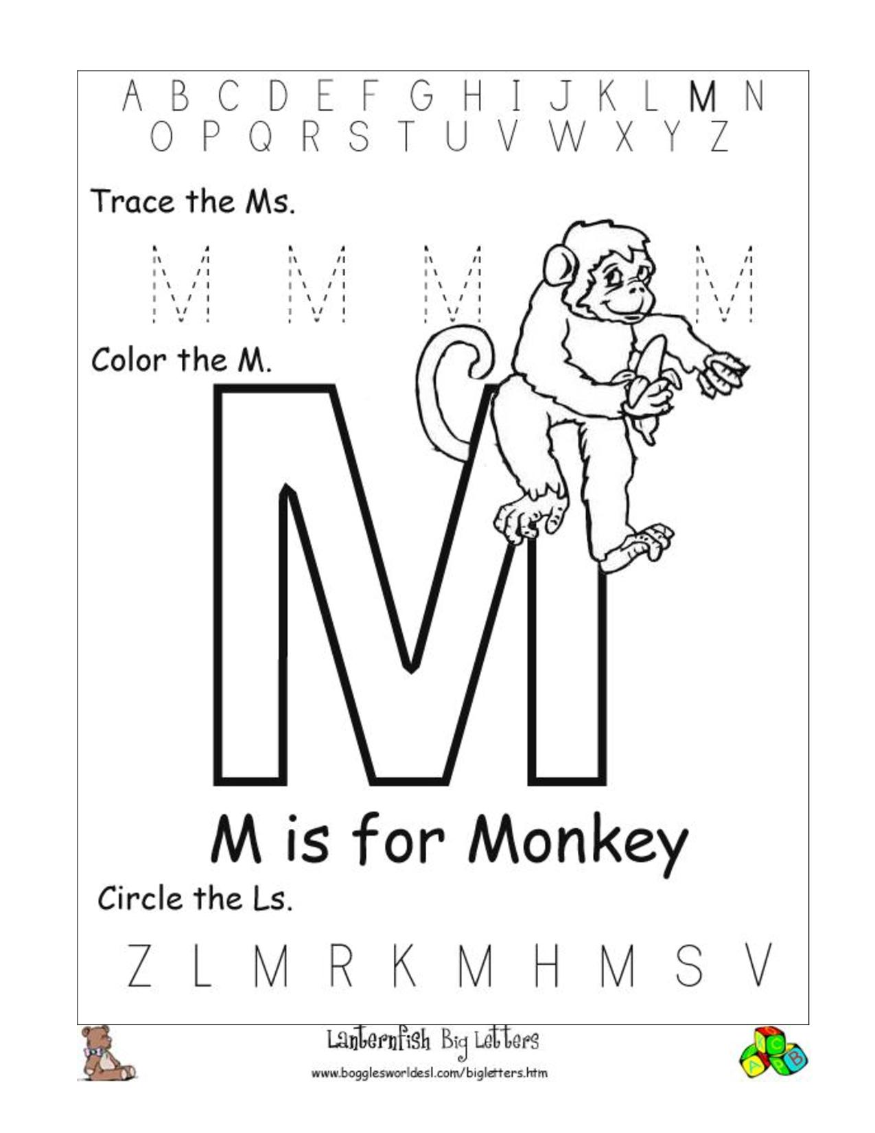 Printables M Worksheet letter m worksheets pre k hd walls find free printable alphabet worksheets