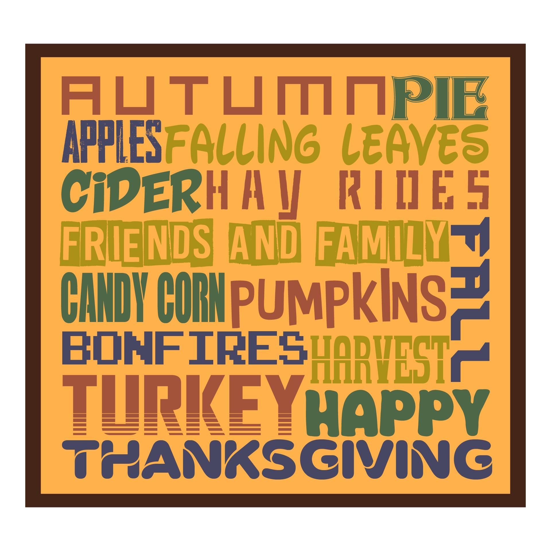Printable Autumn Subway Art