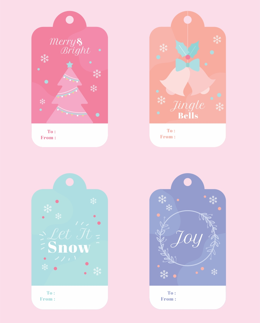 Printable Christmas Gift Tags PDF
