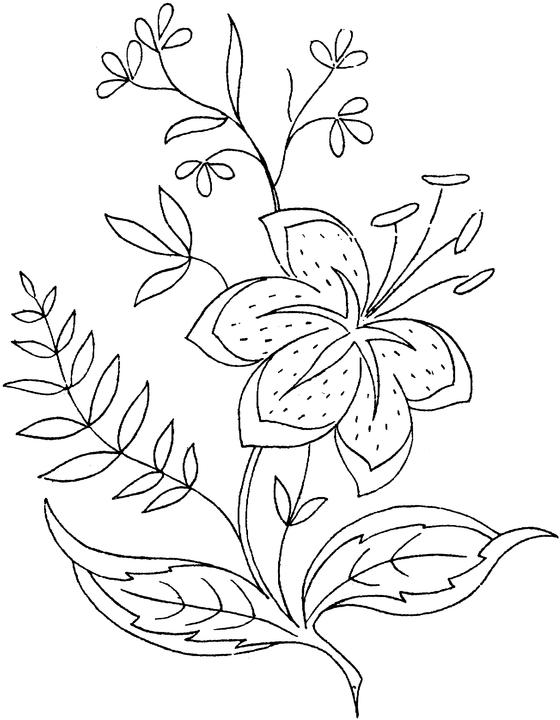 5 Images of Printable Flower Coloring Pages For Adults