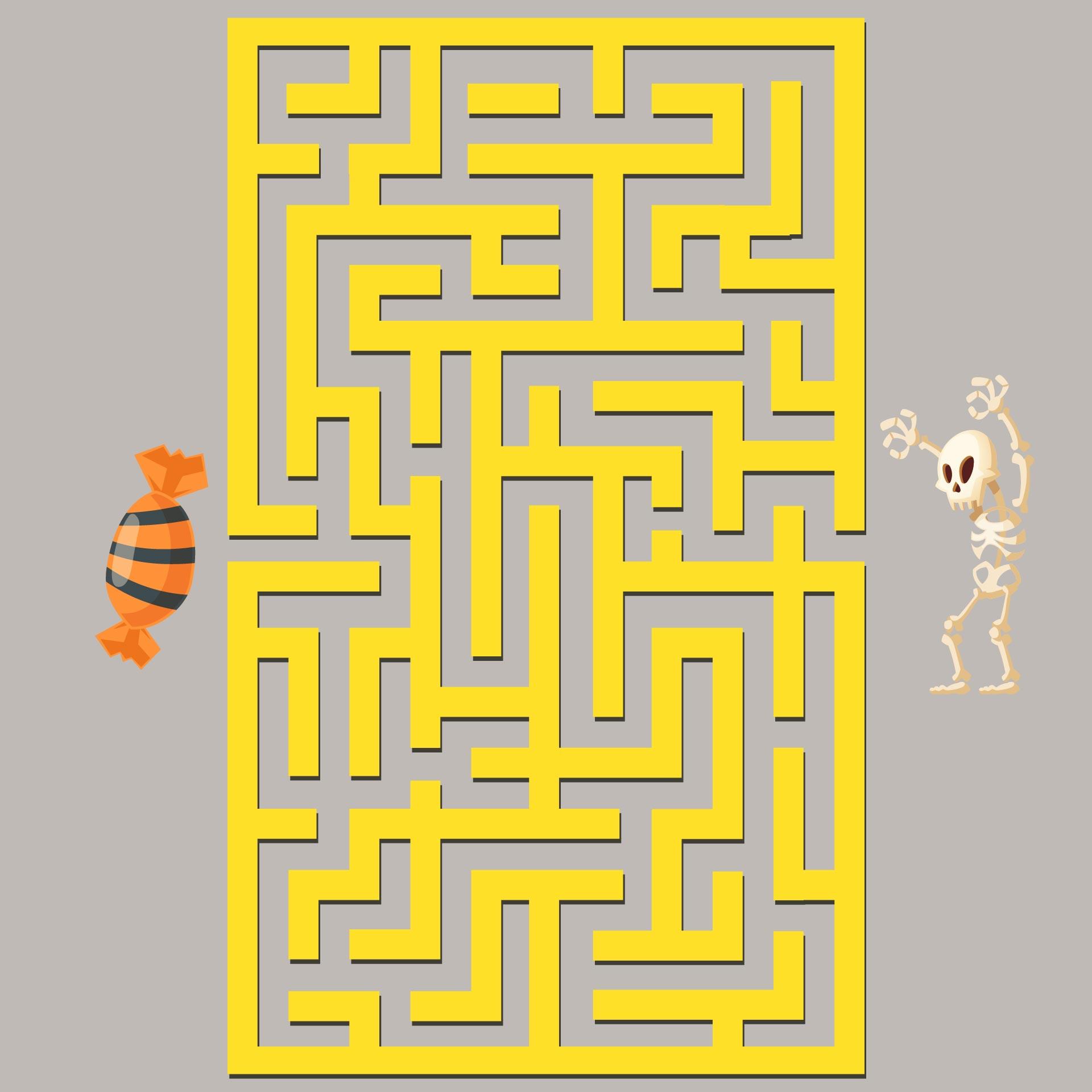 Printable Halloween Maze Puzzles