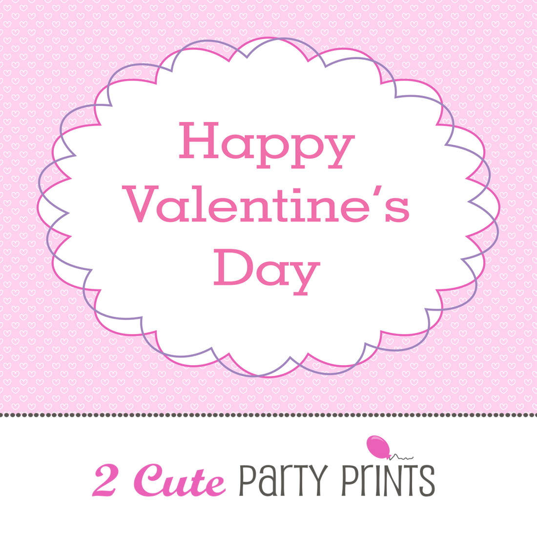 6 Images of Happy Valentine's Day Printable Sign