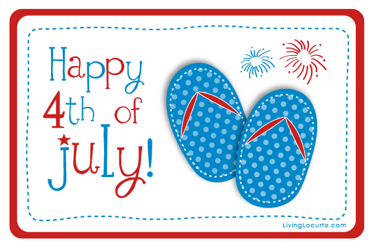 Free Printable Image of Happy 4th of July