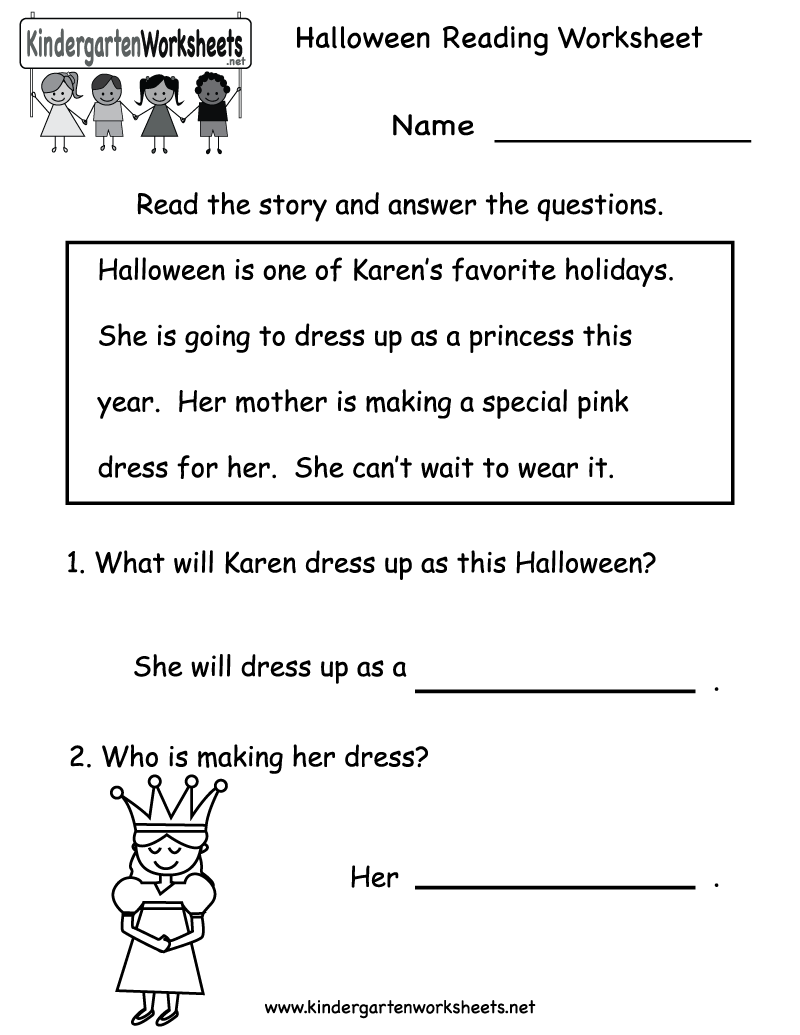 Worksheets Kindergarten Reading Comprehension Worksheets Free 6 best images of printable reading worksheets kindergarten free worksheets