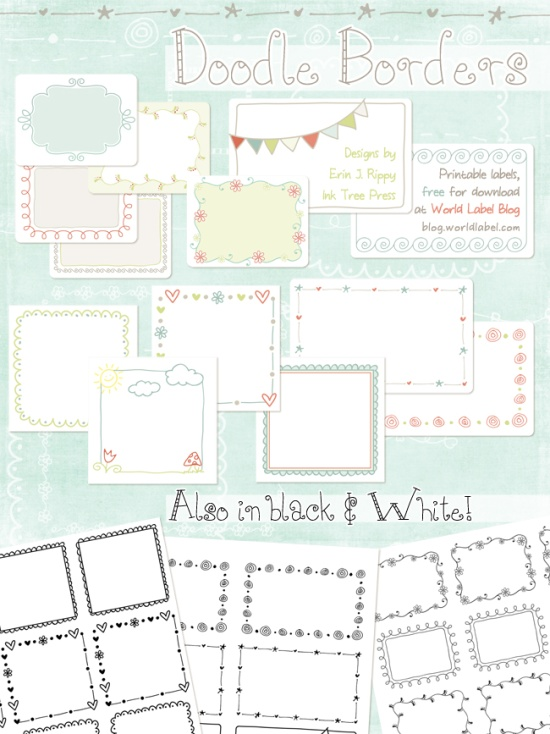 7 Images of Free Printable Labels Templates With Borders
