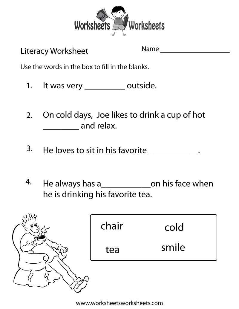 math worksheet : 8 best images of language worksheets printables kindergarten  : Language Worksheet For Kindergarten