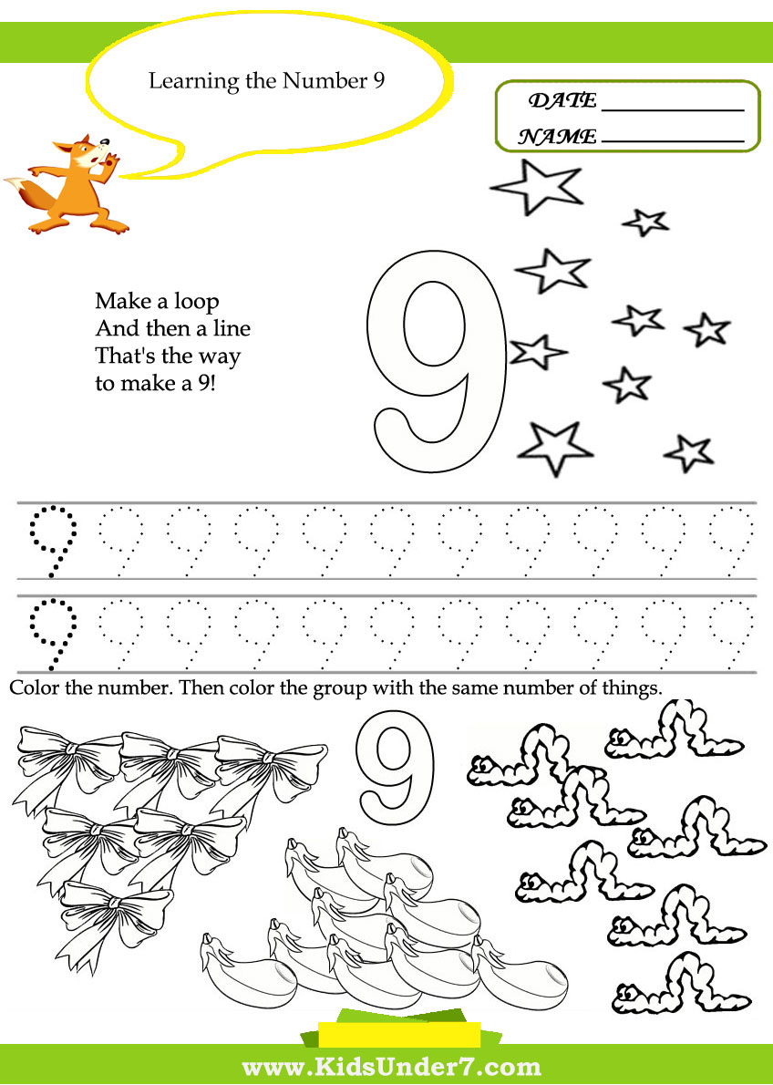 numbers for preschool 7 best images of free printable number worksheets 1 20 663