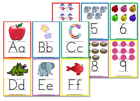 7 Images of Free Printable Alphabet Wall Cards
