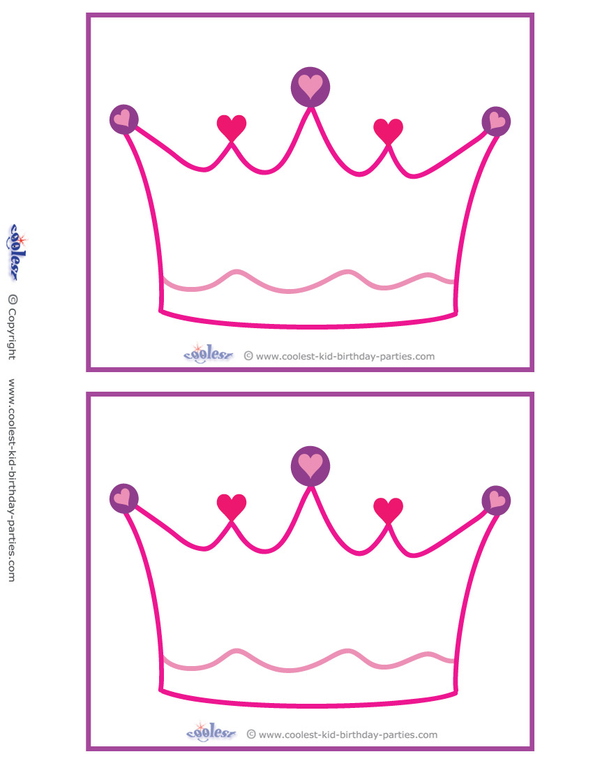 Princess crown invitation template for Free printable tiara template