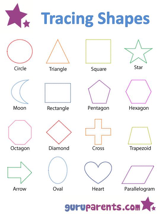 number names worksheets shape tracing sheets 5 best images of printable shape tracing sheets - Printable Printing Worksheets
