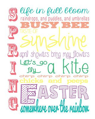 4 Images of Subway Art Free Printables Spring 4 X 6