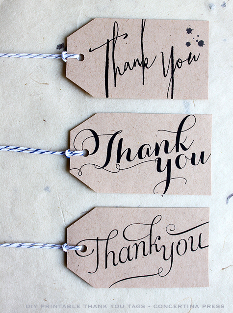 5 Images of Free Printable Thank You Tags For Favors