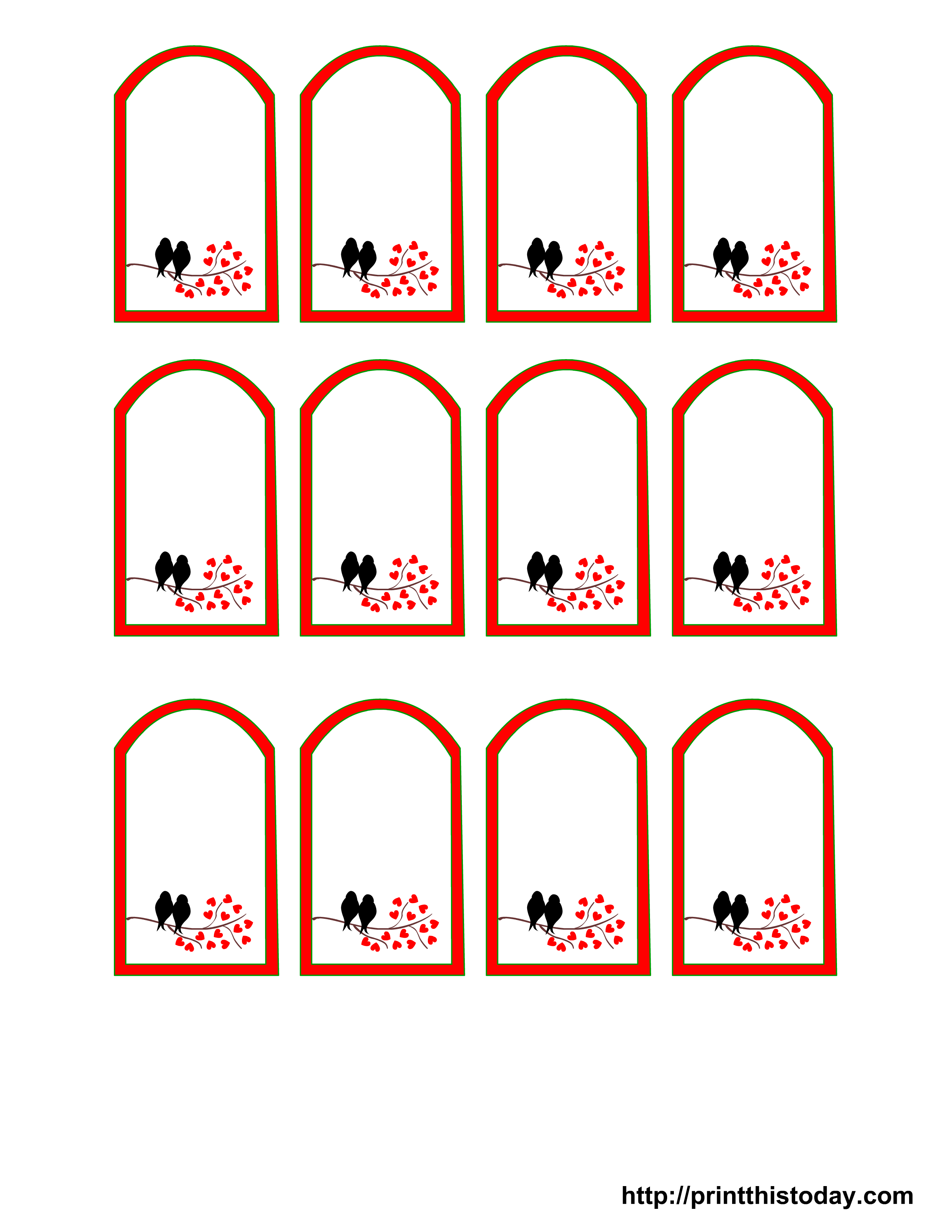 7 Images of Printable Favor Tags