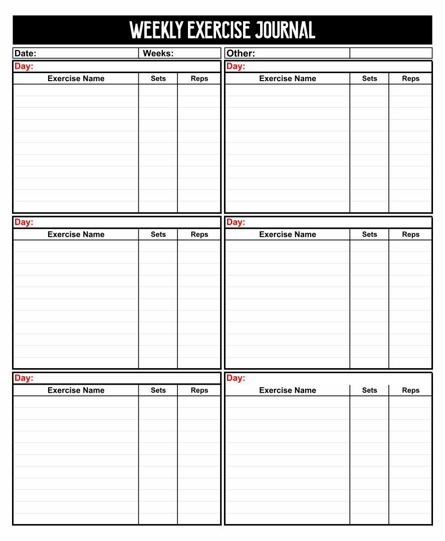 Free Printable Workout Routine Women