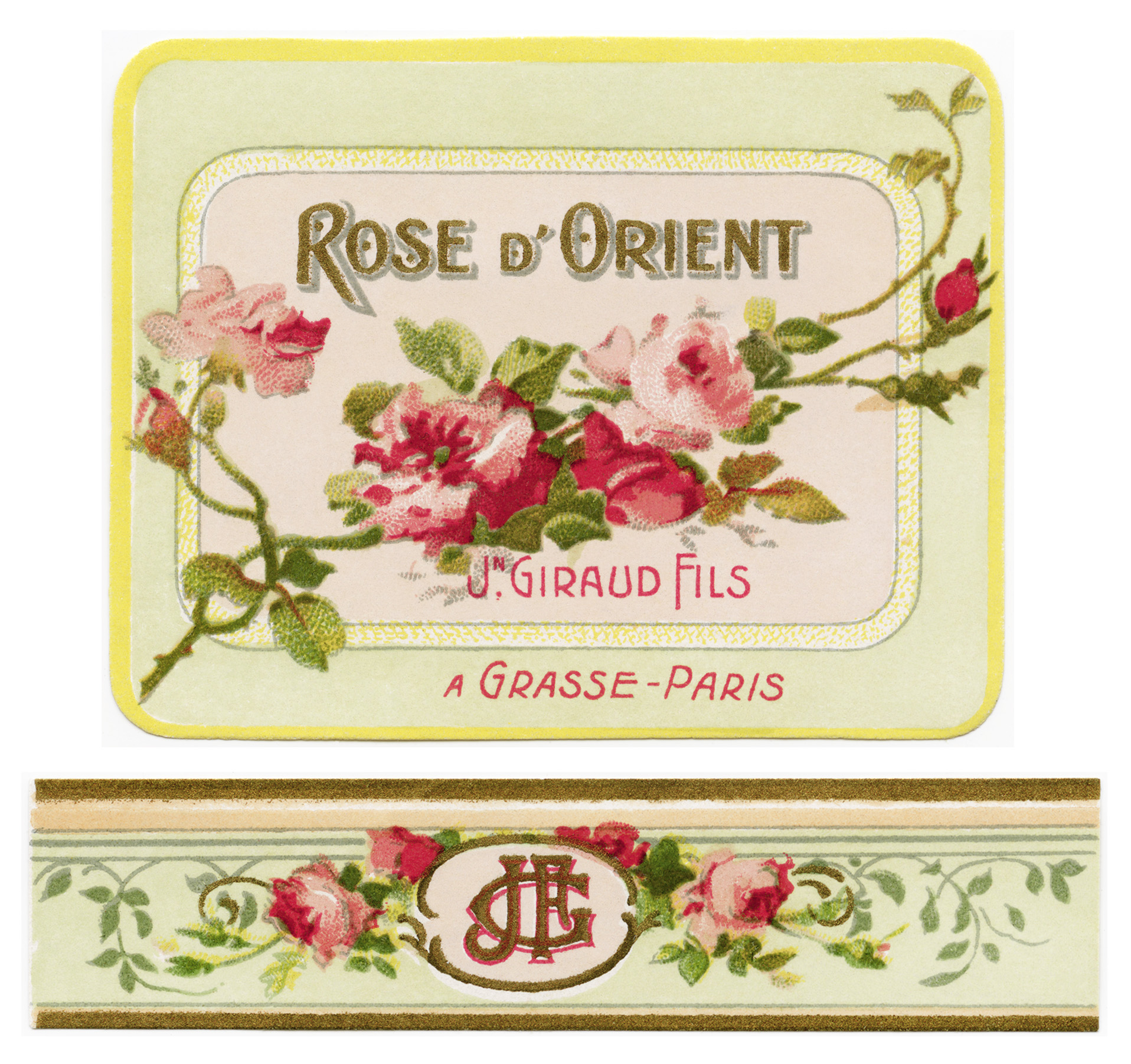 8 Images of French Perfume Labels Printables