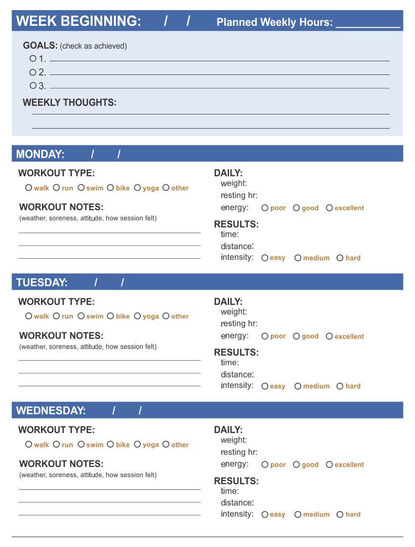 Workout Log PDF