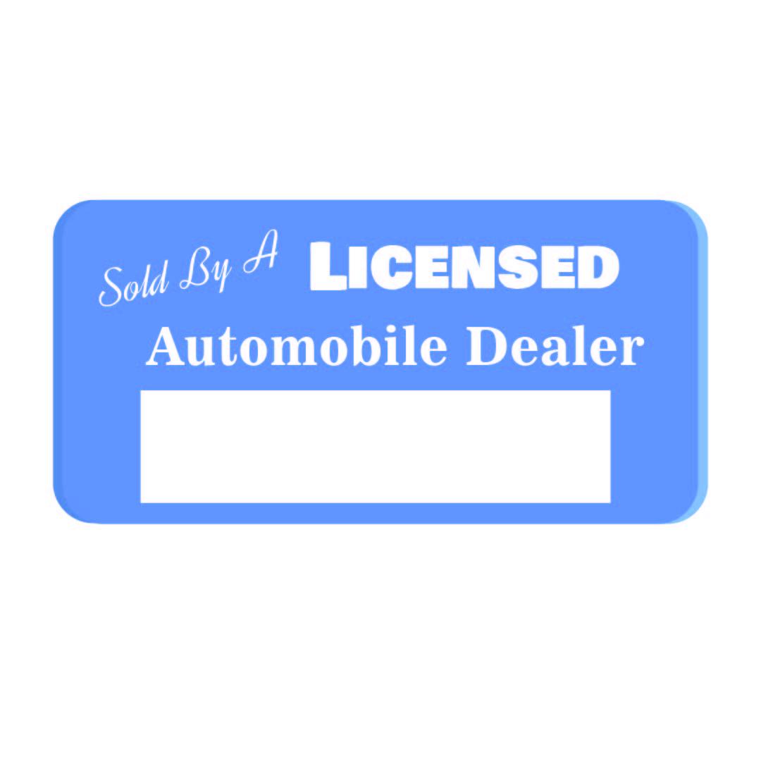 Georgia Dealer Temporary License Tag