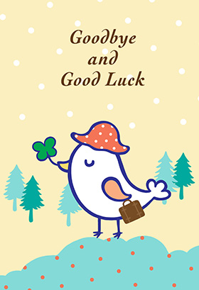 6 Images of Good Luck Goodbye Card Printable Free