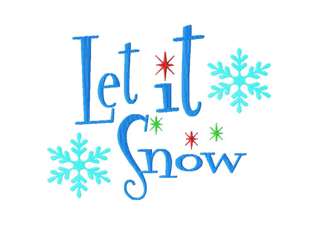 6 Images of Let It Snow Clip Art Printable