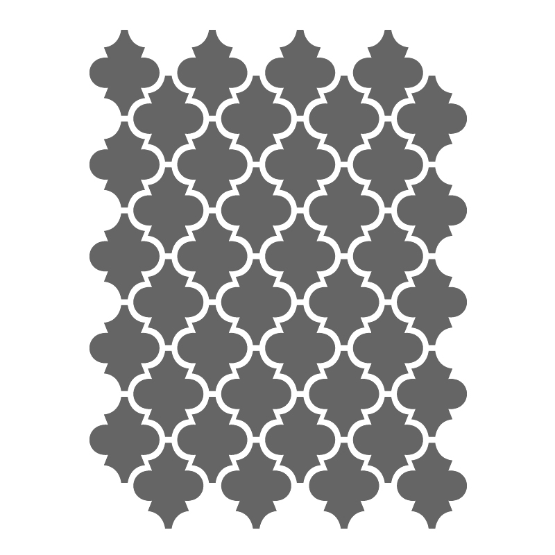 6 Images of Free Printable Moroccan Wall Stencil