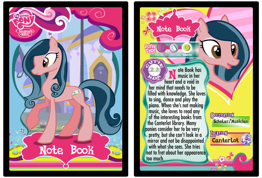 5 Images of My Little Pony Printable Trading Cards