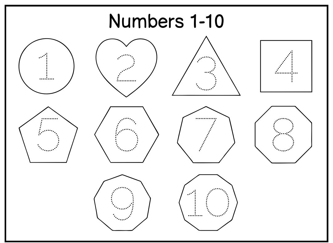 Number Tracing Worksheets