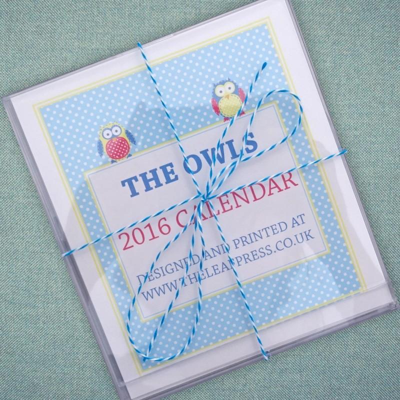 Owl January 2016 Calendar