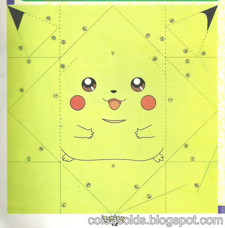 6 Images of Printable Pokemon Origami Pikachu