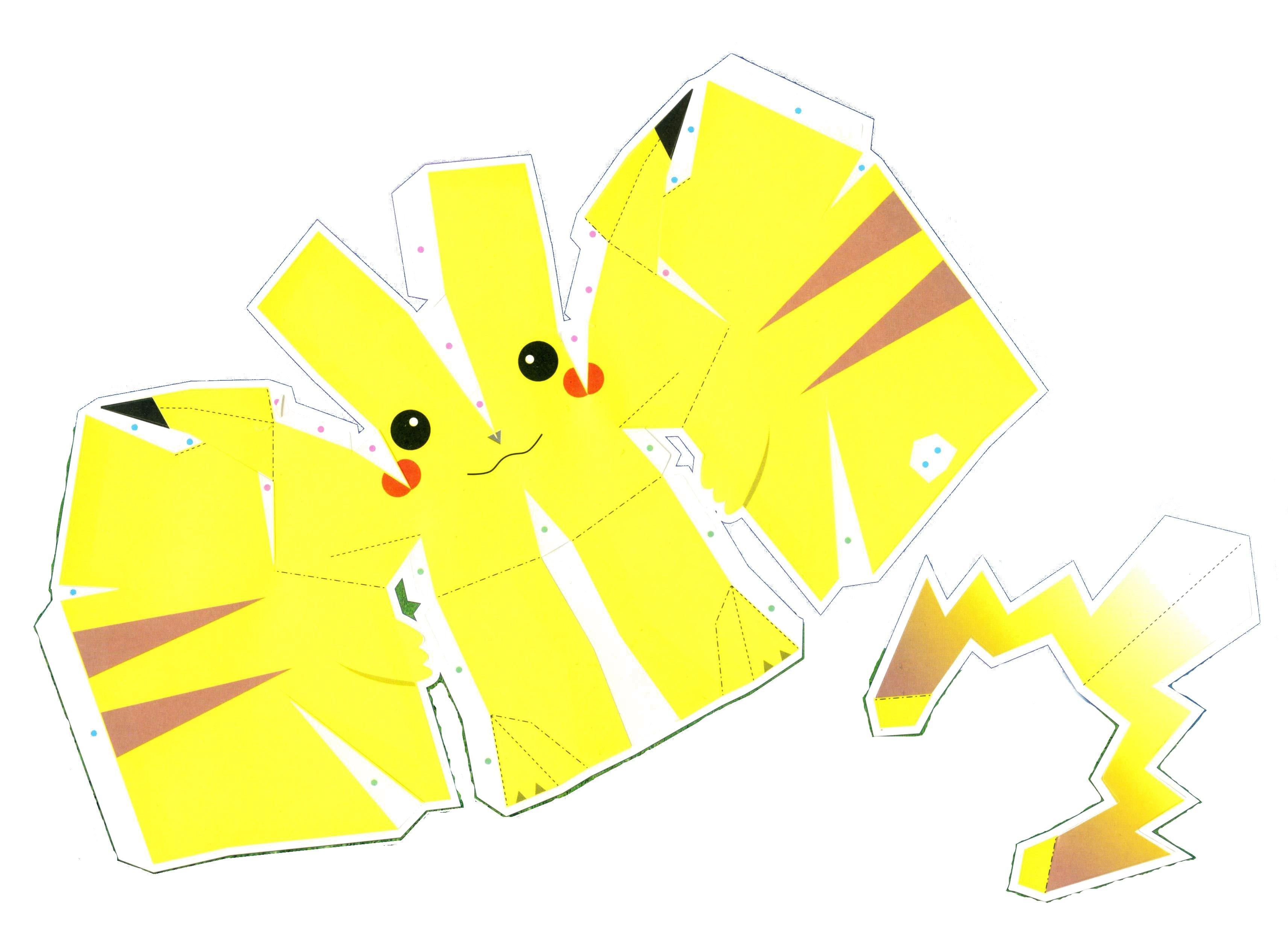 Razcapapercraft: 3D Origami Pikachu tutorial | 2464x3424