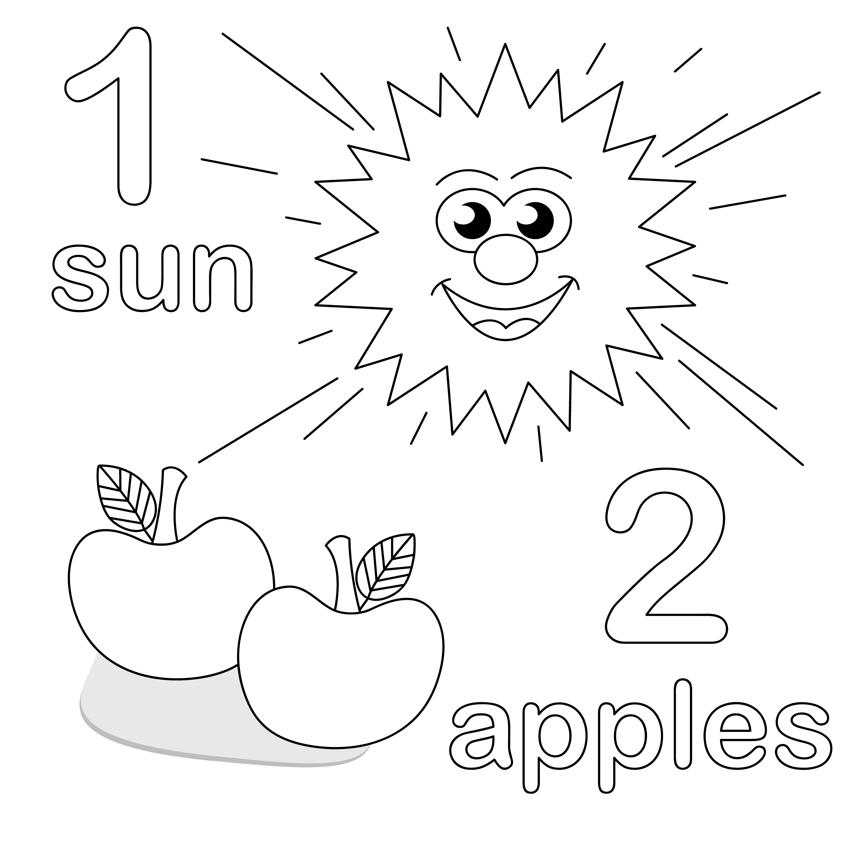 6 Images of Printable Numbers Coloring Pages For Toddlers