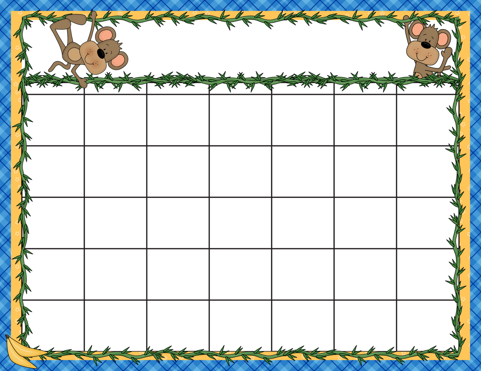 7 Images of Preschool Calendar Template Printables