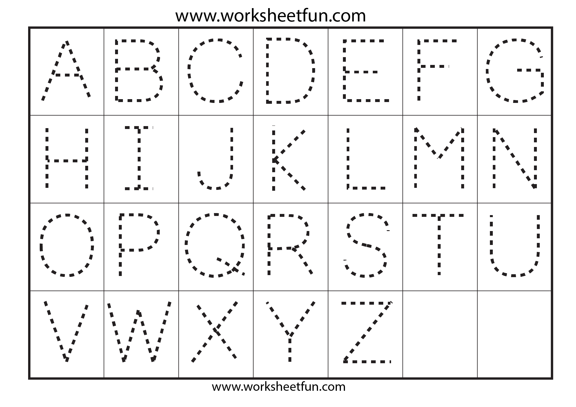 Printables Preschool Alphabet Worksheets A-z alphabet worksheets pre k intrepidpath printable tracing for sheets